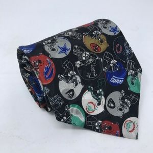 VTG NFL Necktie Team Helmets Football Novelty 90's